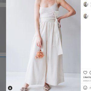 Wray Silk Linen High Waist Pants 0 XS 25